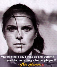 Mia Hamm, US Soccer: I was truly sad when she retired. It sucks seeing a legend's career end. Reminds us all that eventually, we're gonna get old and not be able to do the things we love. Us Soccer, Girls Soccer, Basketball, Soccer Quotes, Sport Quotes, Golf Quotes, Soccer Inspiration, Fitness Inspiration, Girls Playing Football