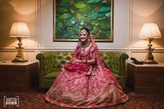 Another year, another round-up. 2018 literally flew by! But this was one year when the brides really upped their game, and we were witness to that! 2018 saw some of the prettiest, trendiest, most off. Bridal Dupatta, Indian Bridal Lehenga, Indian Bridal Wear, Indian Wedding Outfits, Bridal Outfits, Wedding Dresses, Dusty Pink Outfits, Wedding Lehanga, Bridal Skirts