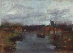 Jan Toorop Molen aan de vaart buiten Delft Kunsthandel Studio2000: Collectie