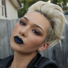 Navy lipstick