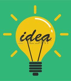 idea light bulb: Idea light bulb concept, flat design vector illustration Illustration