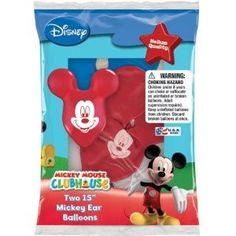Mickey Mouse Ear Balloons $3 for 2 balloons