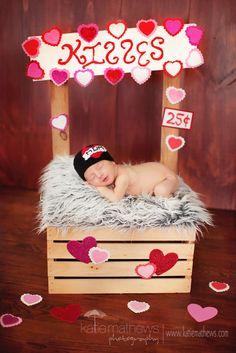 I heart mom  - tattoo beanie - Photography Prop - valentine - crochet. $22.00, via Etsy.