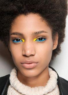 eyeliner yellow make up . yellow eyeliner looks . black and yellow eyeliner . yellow eyeliner makeup looks Makeup Trends, Makeup Inspo, Makeup Inspiration, Makeup Tips, Makeup Ideas, Makeup Tutorials, Brown Skin Makeup, Yellow Makeup, Colorful Makeup