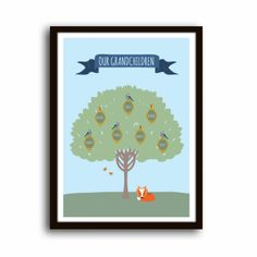 Personalised family tree A4 - The Supermums Craft Fair