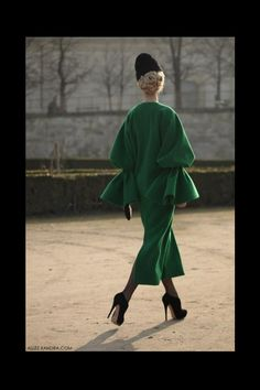 Ulyana at #pfw : classic yet exagerrated
