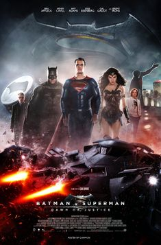 Here's my theatrical poster for Batman V Superman: Dawn of Justice. The film is directed by Zack Snyder and will star Henry Cavill as Superman/Clark Kent, Ben Affleck as Batman/Bruce Wayne, Gal Gad...