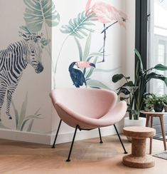 Check out our jungle wallpaper selection for the very best in unique or custom, handmade pieces from our wall décor shops. Jungle Wallpaper, View Wallpaper, Wallpaper Size, Papier Paint, Safari Nursery, Big Girl Rooms, Kidsroom, Cool Walls, Girls Bedroom