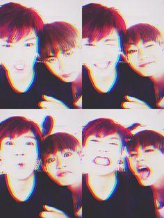 Jungkook & V - BTS Twitter[150705] | btsdiary