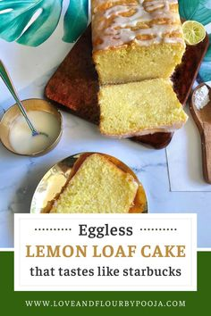 Are you a lover of starbucks's Lemon Loaf Cake? Then you must try this light, tangy, and moist eggless lemon loaf cake with a super delicious 3-ingredient glaze. It needs only simple pantry ingredients like Yogurt, Vanilla, Lemon, Milk etc. This cake is a great companion with a hot cup of mint or lavender tea. Try this recipe at your home today, head over to my blog to read the full recipe. Eggless Baking, Baking Flour, Baking Recipes, Cake Recipes, Dessert Recipes, Starbucks Lemon Loaf, Lemon Loaf Cake, Those Recipe, Tea Cakes