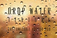 A collection of small, medium and big psd water drops that can be used to create any water drop background and...