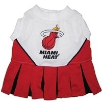 $23.95 #Miami #Heat #Cheerleader #Dog #Dress is made of 100% #cotton interlock with screen-printed, team logo and velcro closure.  Available in sizes XS-M at Sugar Chic Couture:  http://www.sugarchiccouture.com/Miami_Heat_NBA_Cheerleader_Dog_Dress_p/mhch-40071.htm  #pets #doglovers #NBA #sports #playoffs #2012 #gifts #shop #cute #dogs #fashion #puppies
