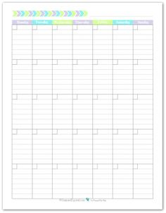 Modern Blank Monthly Calendar  Teal Full Page  Printable