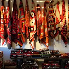 Great shot of transitional textiles from the rug room at Shiprock Santa Fe