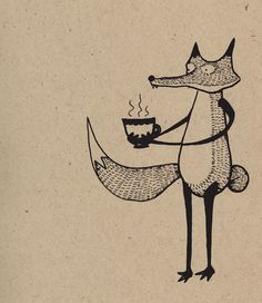 Tea Fox Art Print