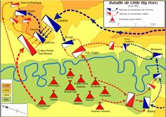 Map of the Battle of the Little Big Horn.