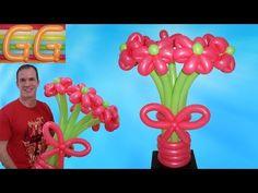 como hacer flores con globos - flores con globos - como hacer figuras con globos - globoflexia - YouTube
