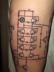 image result for circuit diagram tattoo tattoos pinterest rh pinterest co uk Printable Wiring Diagram Symbols tattoo foot switch wiring diagram