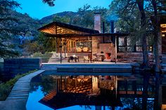 Mill Springs Ranch - Lake|Flato Architects -- integration of water and exterior to interior living space