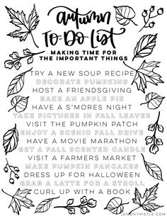 fall bucket list Love this! Free printable fall bucket list- autumn to do list, making time for t. - Winter Bucket List Love this! Free printable fall bucket list- autumn to do list, making time for t.