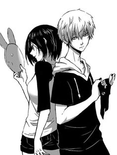 I love this picture (Kaneki X Touka from Tokyo Ghoul)