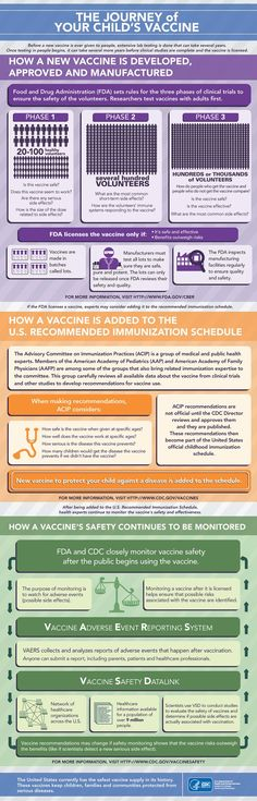CDC - Vaccines and Your Child's Immune System - Journey of Your Child's Vaccine Infographic