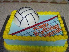 Volleyball Cake Photo:  This Photo was uploaded by cakesbyjoy. Find other Volleyball Cake pictures and photos or upload your own with Photobucket free im...