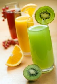 Juice Fasting - has a chart of the health benefits of individual fruits and vegetables on of the body.
