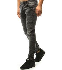Čierne džínsové nohavice