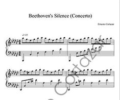 Beethoven's Silence (Concerto) - Composed by Ernesto Cortazar Free Music Streaming, Online Music Stores, Transcription, Piano Sheet Music, Album, Words, Piano Score, Sheet Music For Piano, Horse
