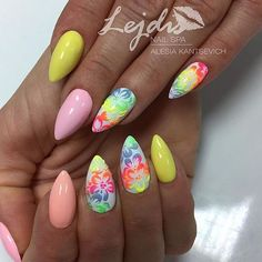 "1,946 Likes, 10 Comments - #NAILSMAGAZINE (@nailsmagazine) on Instagram: ""Spring has sprung! #nails by @lessi_po #nailart #springnails #notd #nailsmagazine """