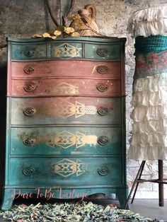 SOLD SOLD Bohemian Painted Dresser - Vintage Dresser - Rustic Farmhouse Dresser - Painted Furniture - Southwestern Dresser - This Dresser has SOLD please do not purchase , thank you for viewing our One Of A Kind Pieces. Funky Painted Furniture, Refurbished Furniture, Farmhouse Furniture, Paint Furniture, Repurposed Furniture, Unique Furniture, Furniture Makeover, Vintage Furniture, Furniture Design