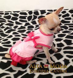 vestido rosa para perritas, vestidos perritas
