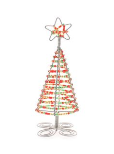 Spread The Christmas Cheer With Your Own Wire And Bead Tree Http African Christmasthe Christmaswire Ornamentssouth