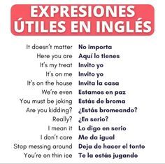 English Tips, Spanish English, English Study, English Class, English Lessons, Teaching English, Learn English, English Prepositions, English Vocabulary