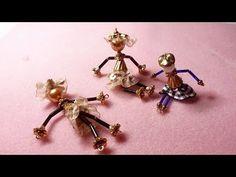 DIY - Dolls Pendant - Ciondoli Bamboline Ballerine - YouTube
