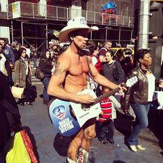 Naked Cowboy in Times Square, New York, NY #nyc #newyork #timessquare #cowboy #nakedcowboy -