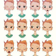 Referência para composição facial e expressões