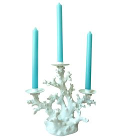 This coral candelabra ($62) from my online boutique is perfect for summer entertaining! PLEASE REPIN to help me win a power session with Shark Tank's Daymond John! I'm 22 years old and launched my home decor and monogrammed gift boutique after creating an established lifestyle blog while in college. I'm driven and passionate and would benefit greatly from Daymond's experience and expertise! #shopify_contest