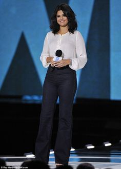Youth role model: The singer and actress was in Chicago on Thursday for the first We Day I...