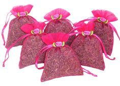Zziggysgal French Lavender Sachets in Beautiful Gift-ready Packaging (Hot Pink)