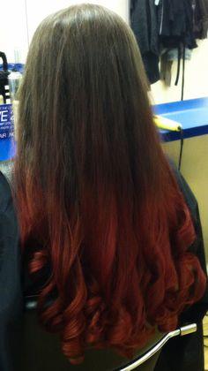 beautiful red ombre by danielle at supercuts newark teamsupercuts