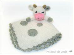 Vaca Mantita de Apego Manta Bebe ~ HECHO A PEDIDO