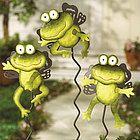 Jumping Frog Garden Statue