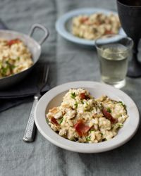 Clam Risotto with Bacon and Chives // More Tasty Risotto Recipes: http://fandw.me/q5v #foodandwine