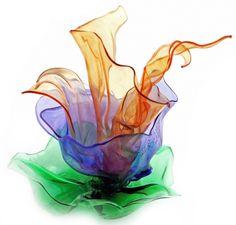 "ifigeniasofia: "" 'PET flowers' series art object made from plastic shampoo and water bottles created by Ifigenia Sofia """