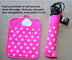 Make a straighter holder out of a potholder