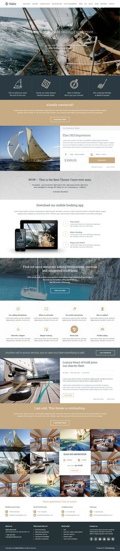 Sailor - Yacht Charter Booking PSD Template on Behance
