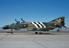 """F-4C is a """"MiG Killer"""" now sporting colours of the 58th TFTW at Luke AFB AZ circa 1975"""