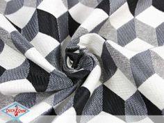 Jacquard cubes - gray / black